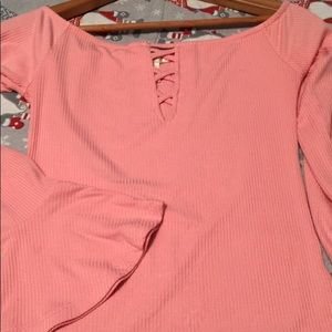 Forever 21 light pink crop